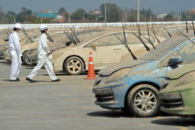 ciri mobil bekas banjir